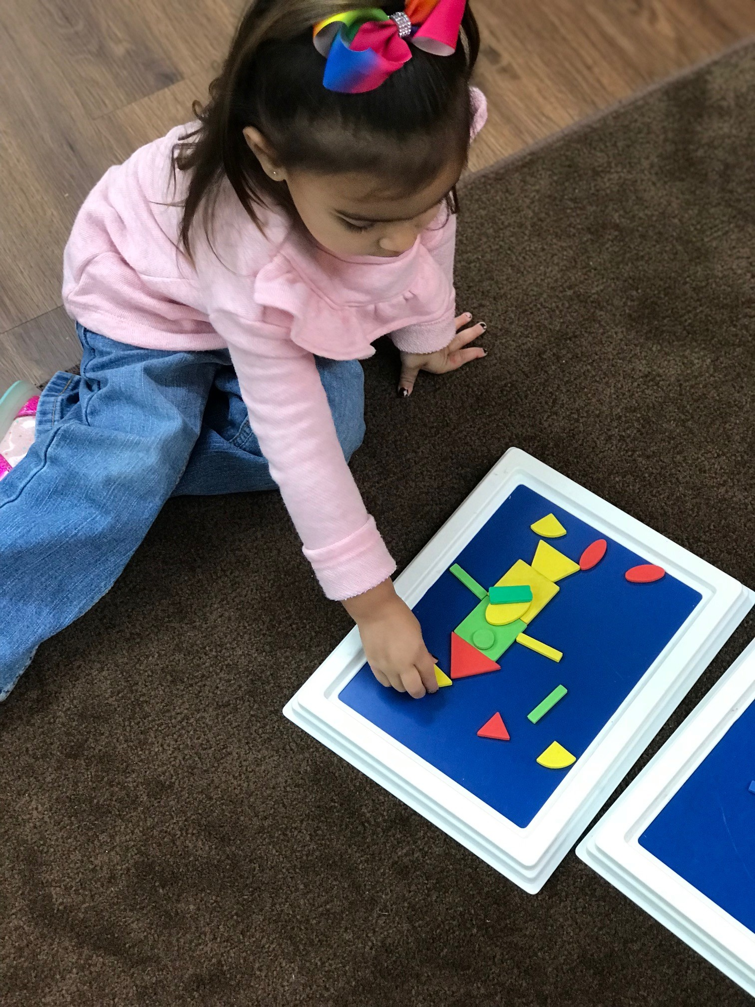 child creating pcture